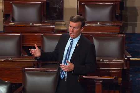 Sen. Chris Murphy, D-Conn., holding a filibuster over the need for the Senate to address gun laws