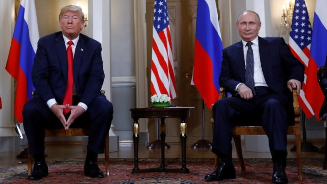 Trump meets with Putin in Helsinki, Finland